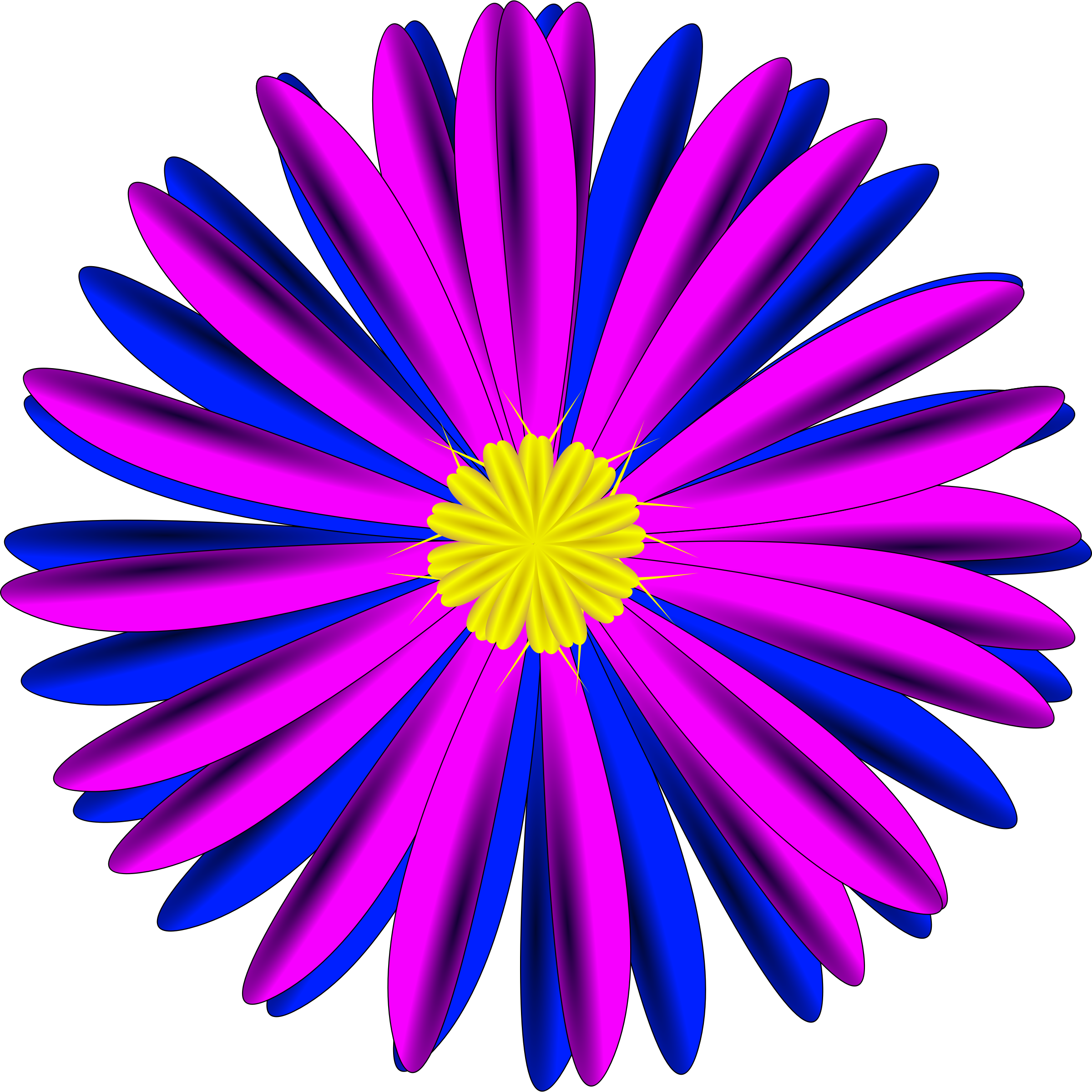 Blue and purple flower clipart graphic transparent Clipart - Pink and Blue Flower graphic transparent