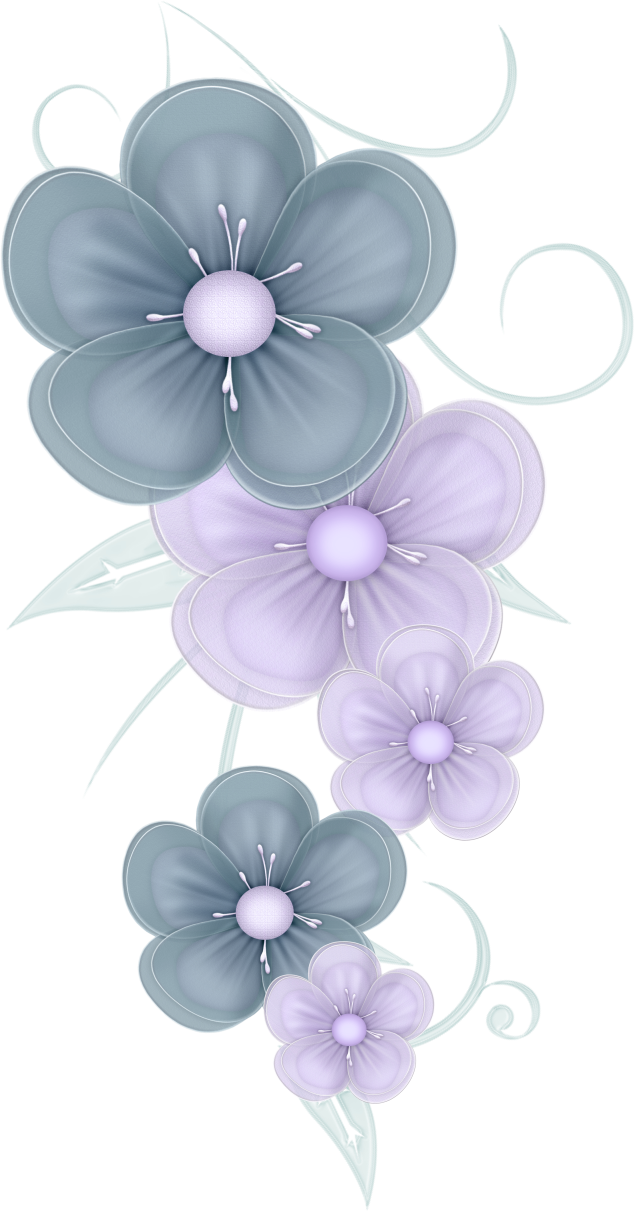 Blue and purple flower clipart svg free download flowers png | Blue Flowers PNG by PVS by ~pixievamp-stock on ... svg free download
