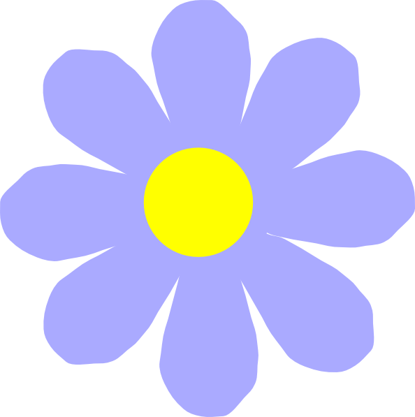 Blue and yellow flower clipart vector library stock Blue Flower Clip Art at Clker.com - vector clip art online, royalty ... vector library stock