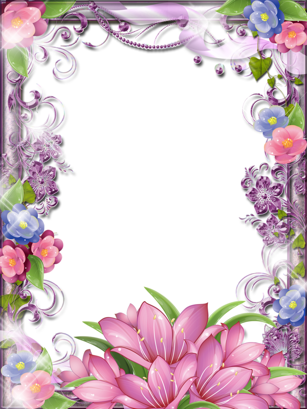 Blue and purple flower clipart clip free library 8 марта (36).png | Pinterest | Flower frame, Blue flowers and Pink blue clip free library