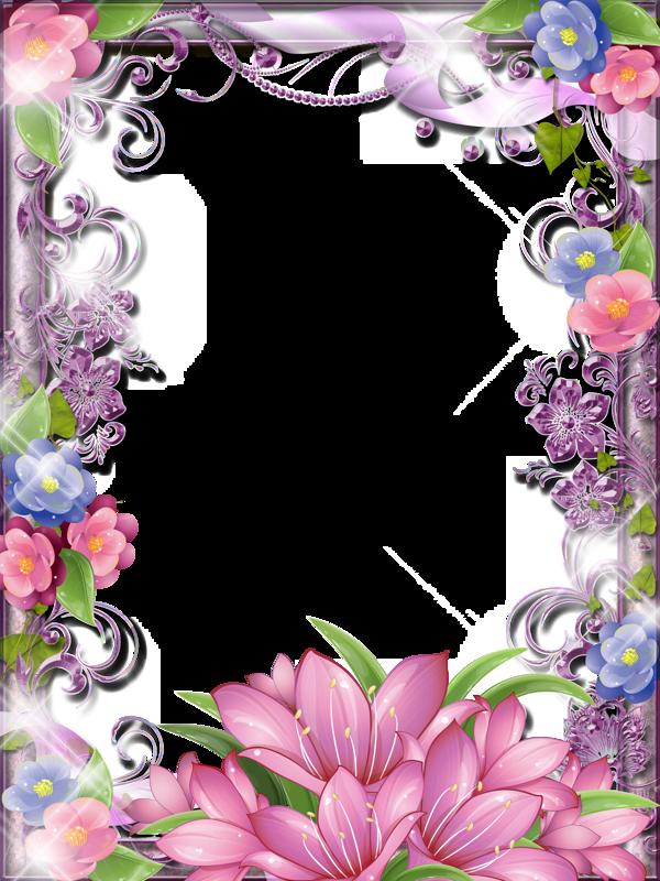 Blue flower border clipart vector free library 8 марта (36).png | Pinterest | Flower frame, Blue flowers and Pink blue vector free library