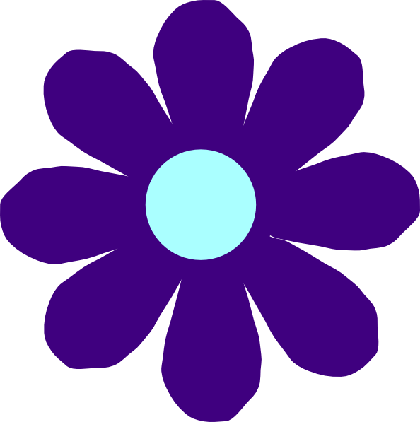 Blue and purple flower clipart image black and white Violet Flower Clip Art at Clker.com - vector clip art online ... image black and white
