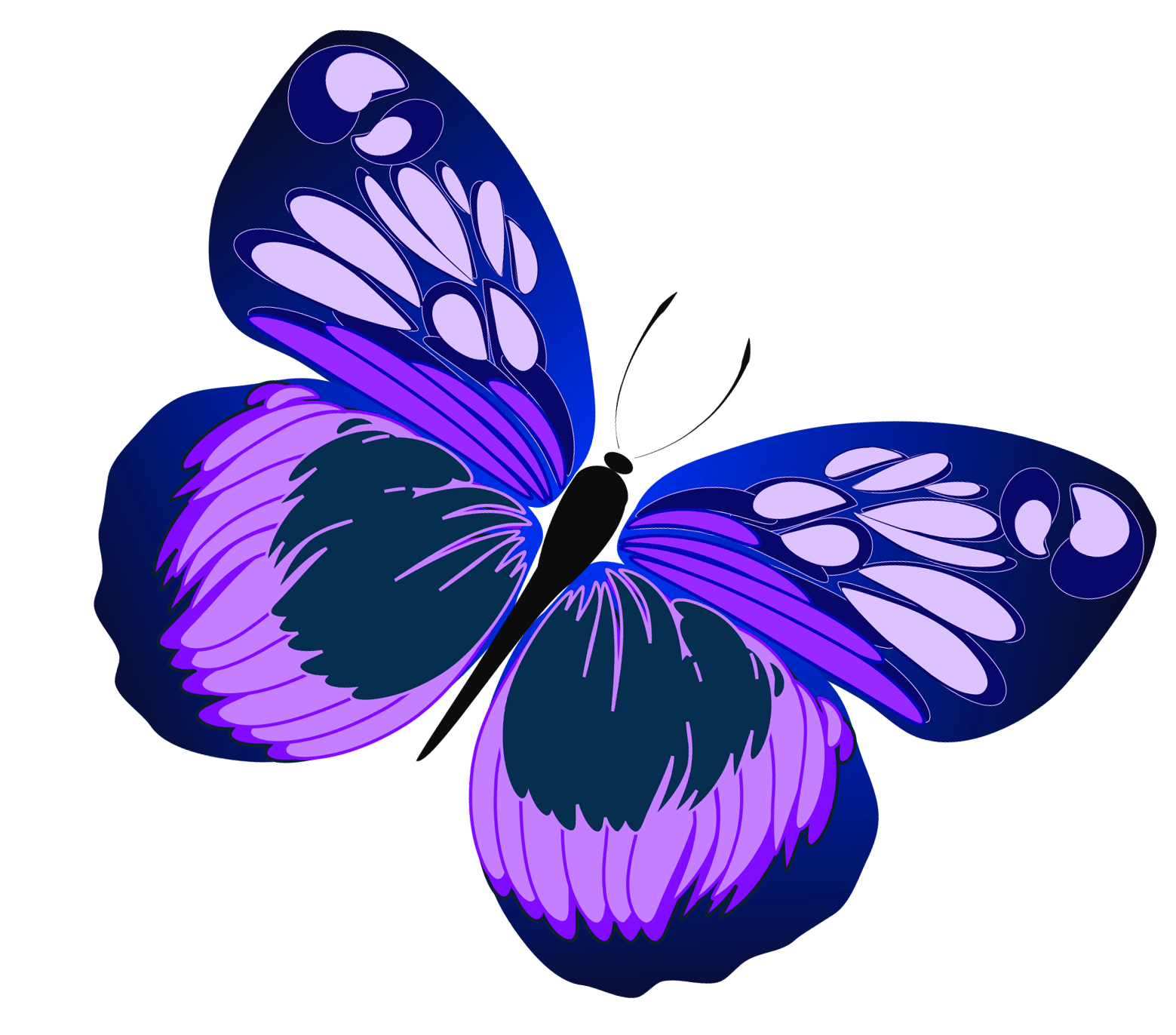Butterfly on flower clipart picture library stock Violet Flower Clipart at GetDrawings.com | Free for personal use ... picture library stock