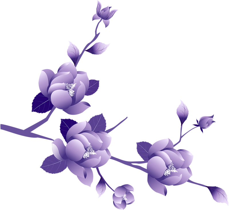 Flower border clipart no background clip art freeuse library Transparent Painted Large Purple Flower Clipsrt | Gallery ... clip art freeuse library