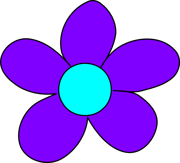 Snapdragon flower clipart png black and white Blue Flower Clip Art at Clker.com - vector clip art online, royalty ... png black and white