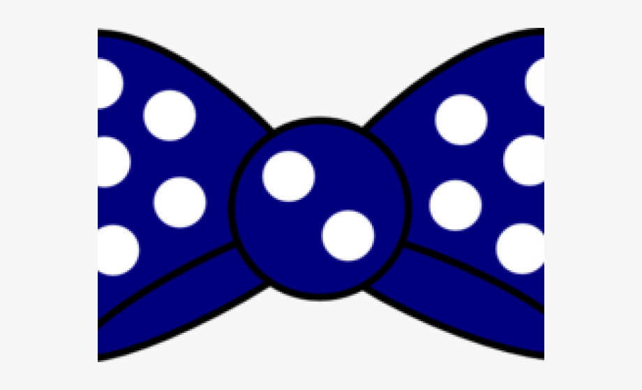 Blue and white polka dot hair bow clipart clipart black and white library Bow Clipart Polka Dot - Blue Mickey Mouse Bow Tie #604814 - Free ... clipart black and white library
