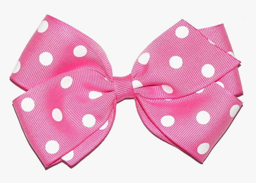 Blue and white polka dot hair bow clipart svg transparent library Pink Hair Clipart Pink Polka Dot - Hair Bow Png Transparent - Free ... svg transparent library