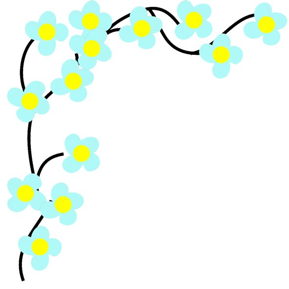 Blue and yellow flower clipart banner royalty free Flower Image Gallery - Useful Floral Clip Art banner royalty free