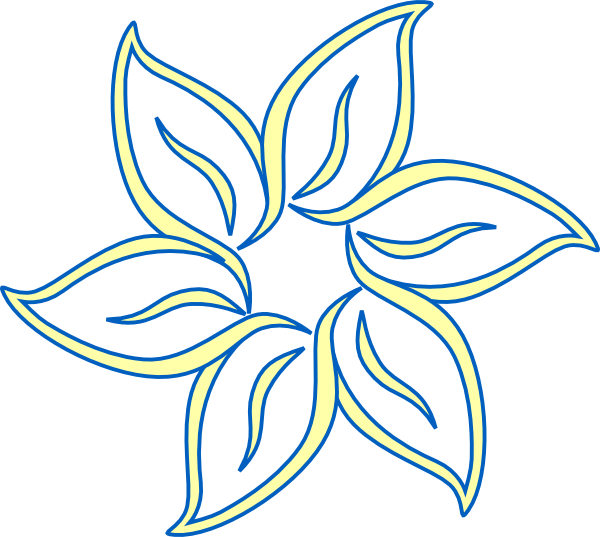 Blue and yellow flower clipart png stock Yellow Blue Flower Clip Art at Clker.com - vector clip art online ... png stock