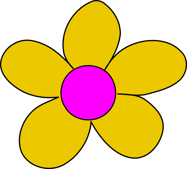 Blue and yellow flower clipart picture free download Yellow Flower Clip Art at Clker.com - vector clip art online ... picture free download
