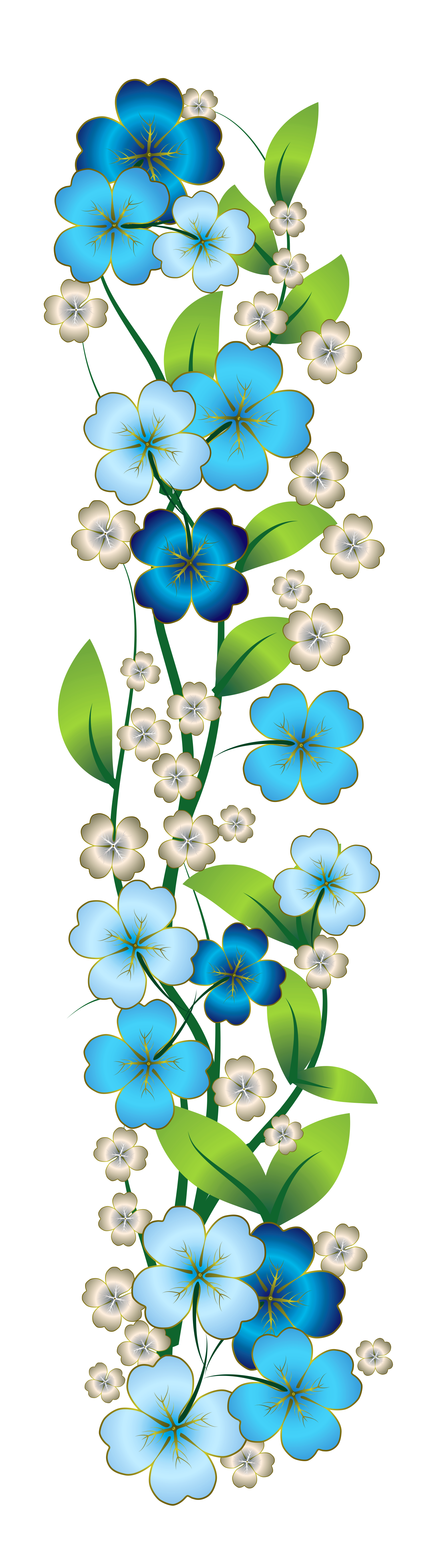 Blue and yellow flower clipart jpg freeuse library Blue Flower Decor PNG Clipart | Flowers | Pinterest | Blue flowers ... jpg freeuse library