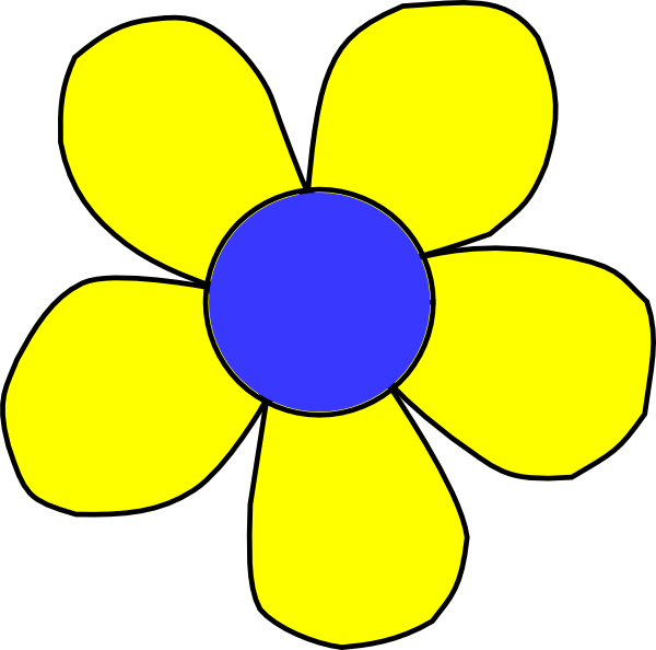 Blue and yellow flower clipart jpg transparent download Blue And Yellow Flower Clip Art at Clker.com - vector clip art ... jpg transparent download