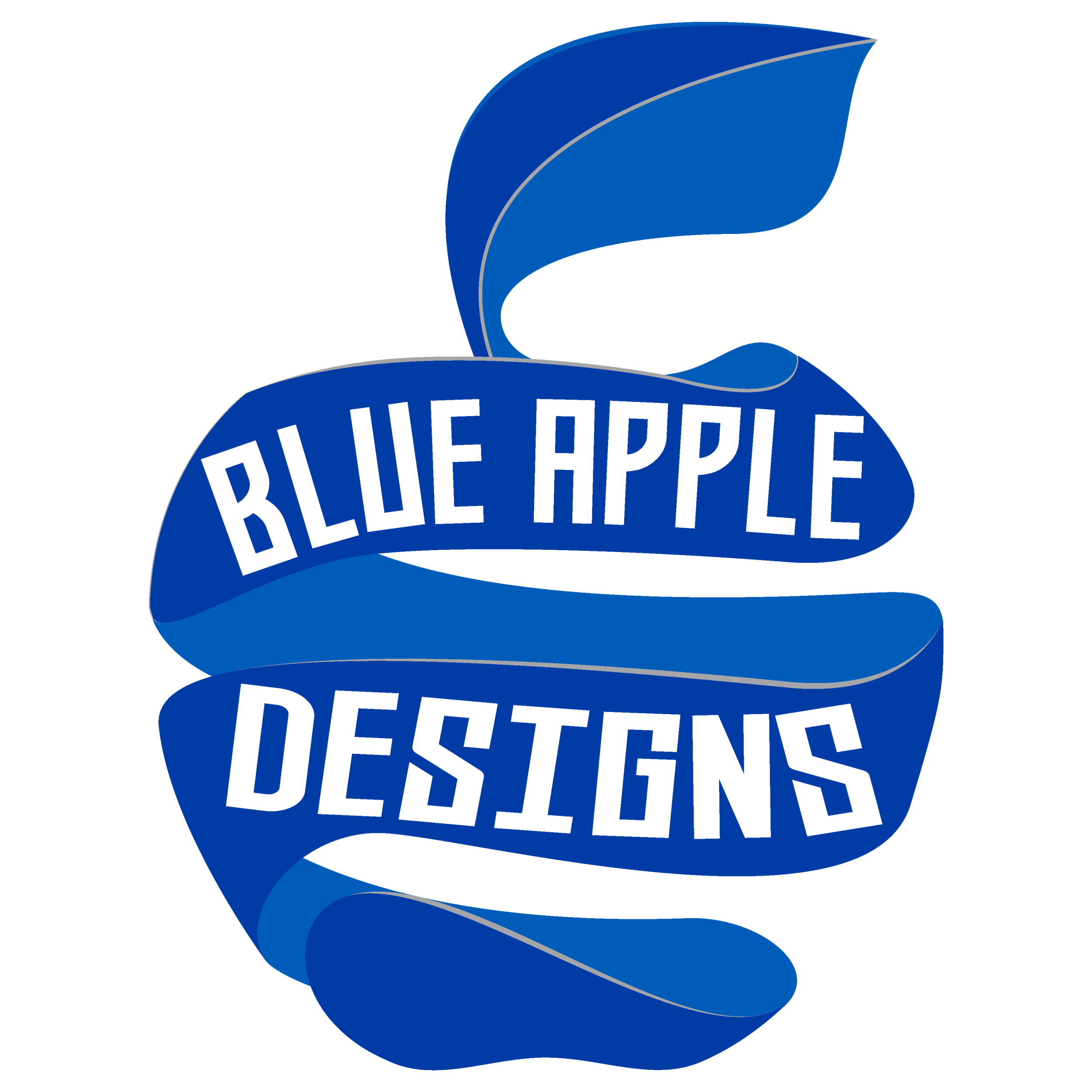 BLUE APPLE DESIGNS image black and white