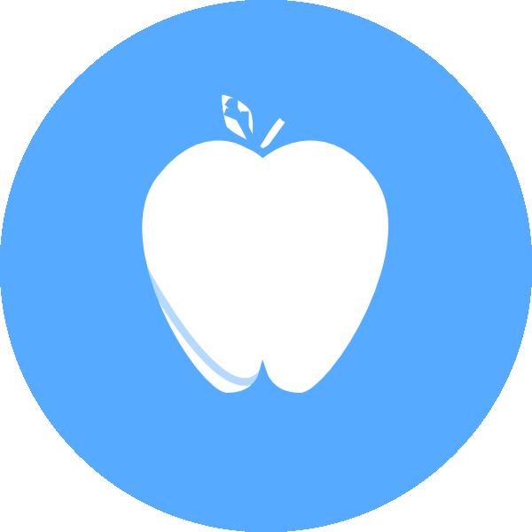 Blue Circle Apple Clip Art at Clker.com - vector clip art online ... clip art library download