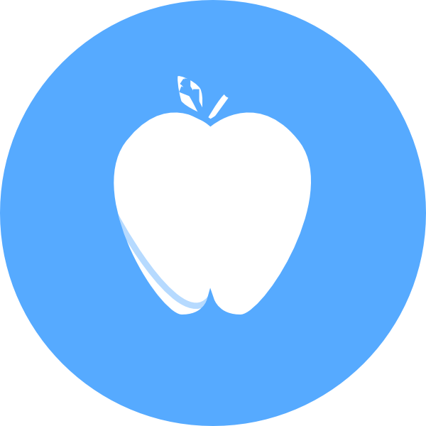Blue apple clipart clip art library download Blue Circle Apple Clip Art at Clker.com - vector clip art online ... clip art library download