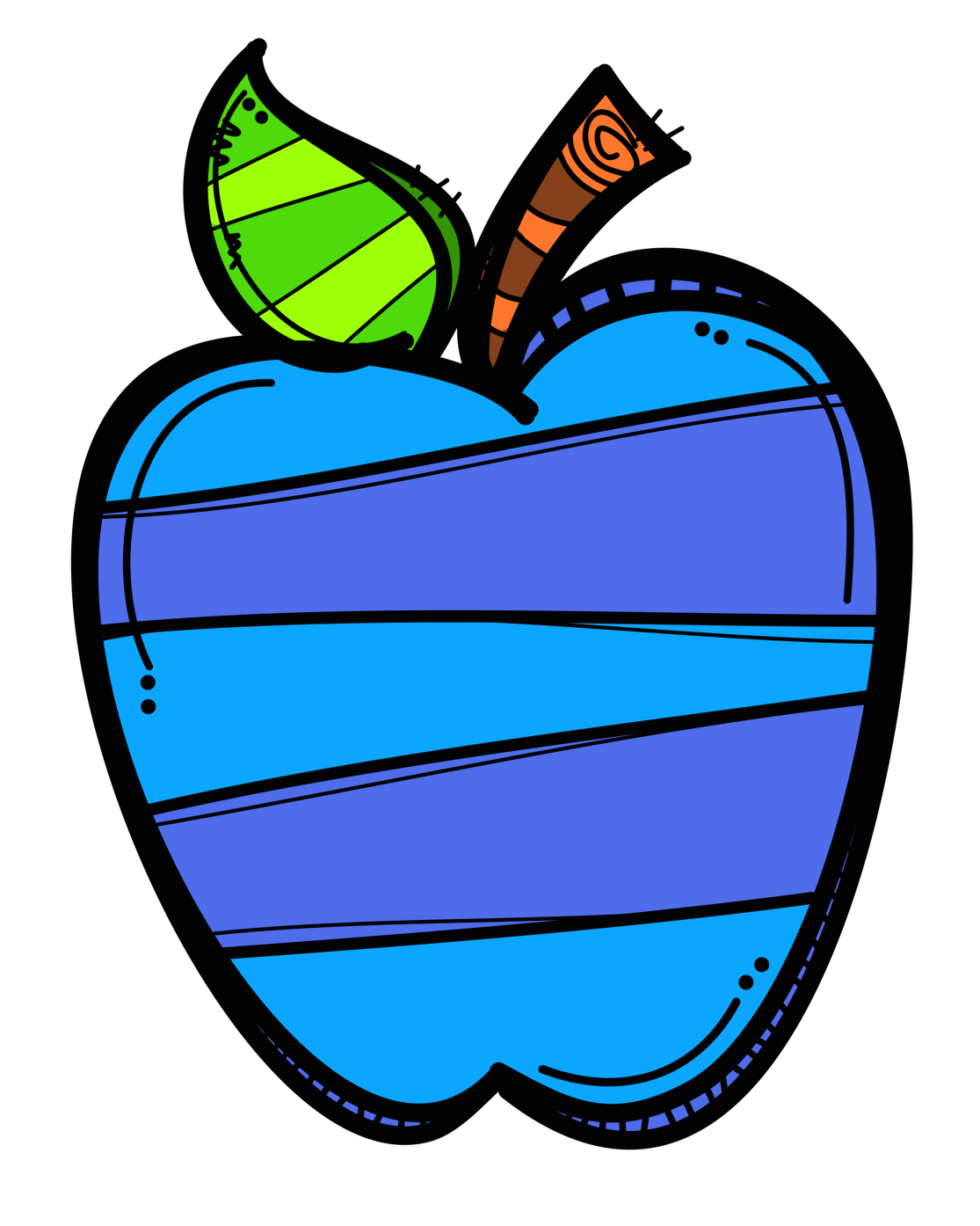 28+ Collection of Blue Apple Clipart | High quality, free cliparts ... image