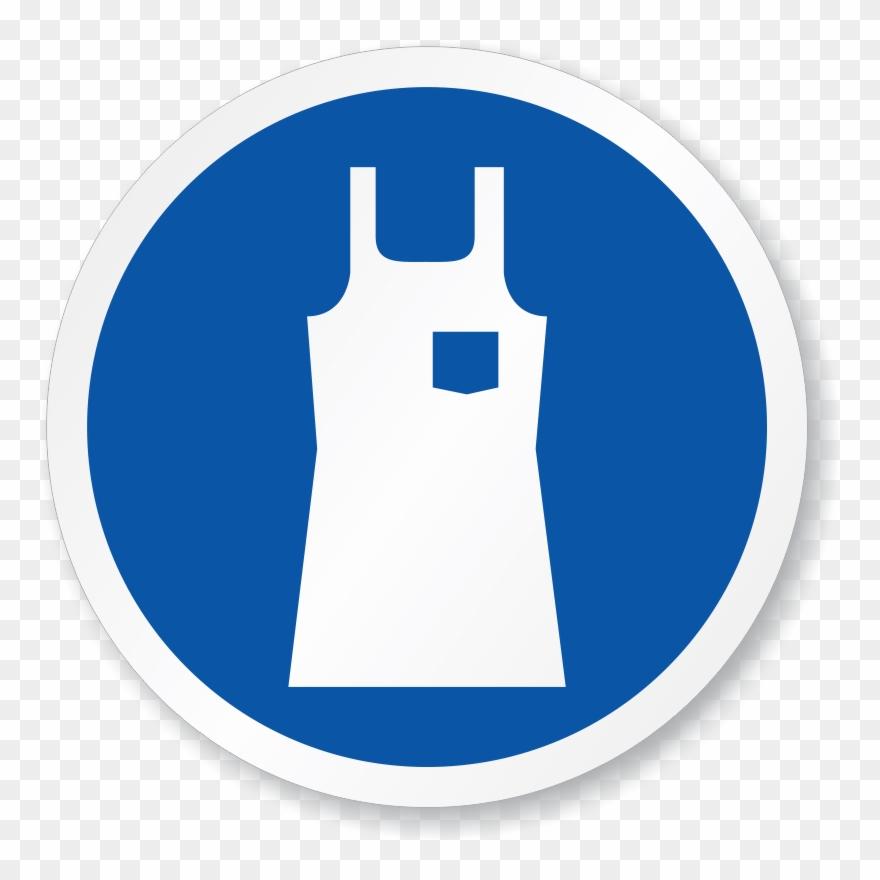Blue apron logo clipart clip stock Safety Apron Clipart Black - Apron Sign - Png Download (#175984 ... clip stock