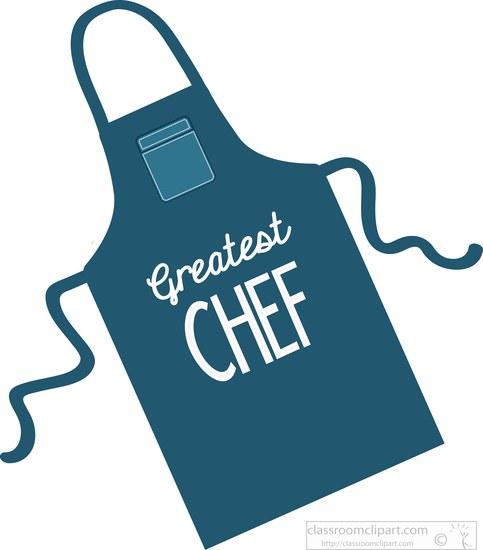 Blue apron logo clipart clip black and white stock Dark blue apron greatest chef clipart » Clipart Station clip black and white stock