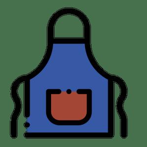 Blue apron logo clipart vector transparent download Customize your apron - FORQUETA vector transparent download