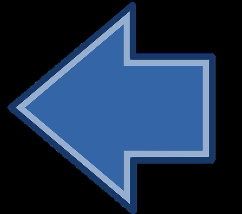 Blue arrow left graphic freeuse download Blue, Arrow - Free images on Pixabay graphic freeuse download