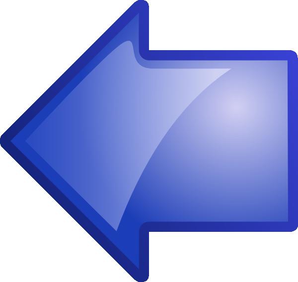 Blue arrow left graphic transparent stock Blue Arrow Clipart - Clipart Kid graphic transparent stock