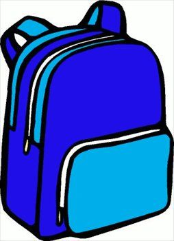 Blue bag clipart banner transparent library Free backpack-01 Clipart - Free Clipart Graphics, Images and Photos ... banner transparent library