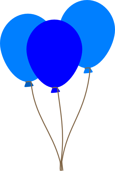 Blue balloon clipart free graphic black and white Free Blue Balloon Cliparts, Download Free Clip Art, Free Clip Art on ... graphic black and white
