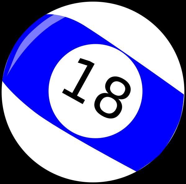 Eighteen Baseball Billiard Ball Clip Art at Clker.com - vector clip ... png royalty free download