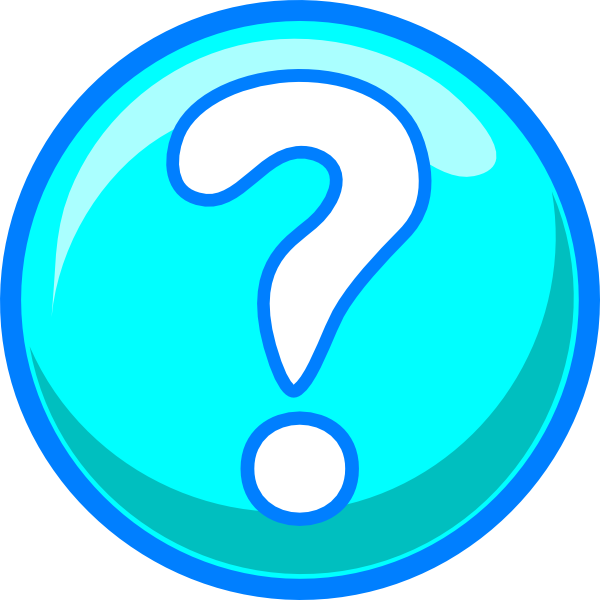 Blue clipart question ~ Frames ~ Illustrations ~ HD images ~ Photo ... free