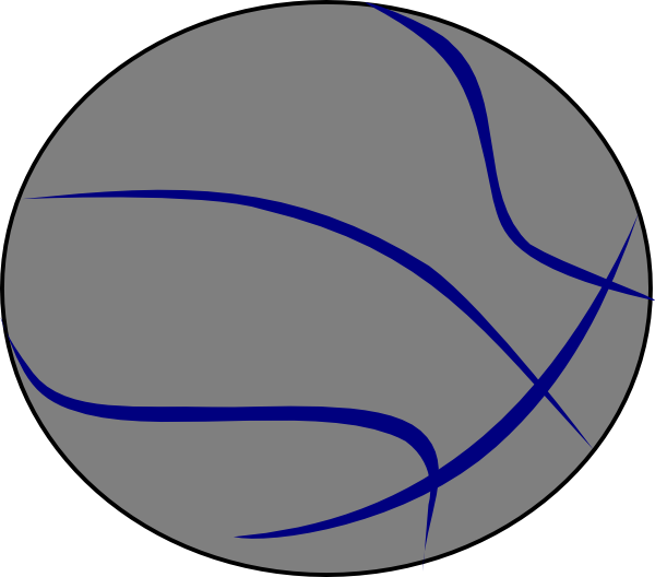 Grey Blue Basketball Clip Art at Clker.com - vector clip art online ... banner black and white library
