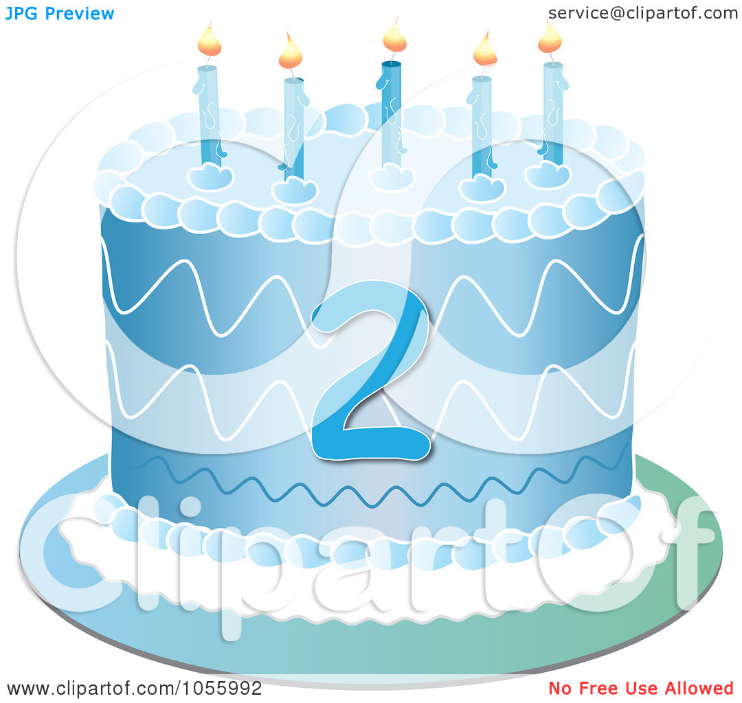 Blue birthday cake clip art clip art transparent stock Royalty-Free Vector Clip Art Illustration of a Blue Second ... clip art transparent stock