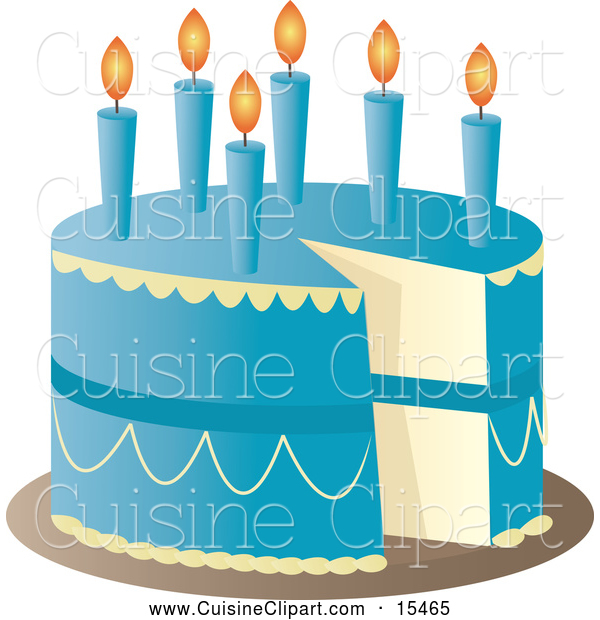 Blue birthday cake clip art vector library download Cuisine Clipart of a Blue Birthday Cake with Candles and a Missing ... vector library download