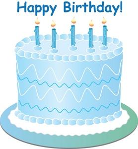 Blue birthday cake clip art free Blue Birthday Cake Clipart - Clipart Kid free