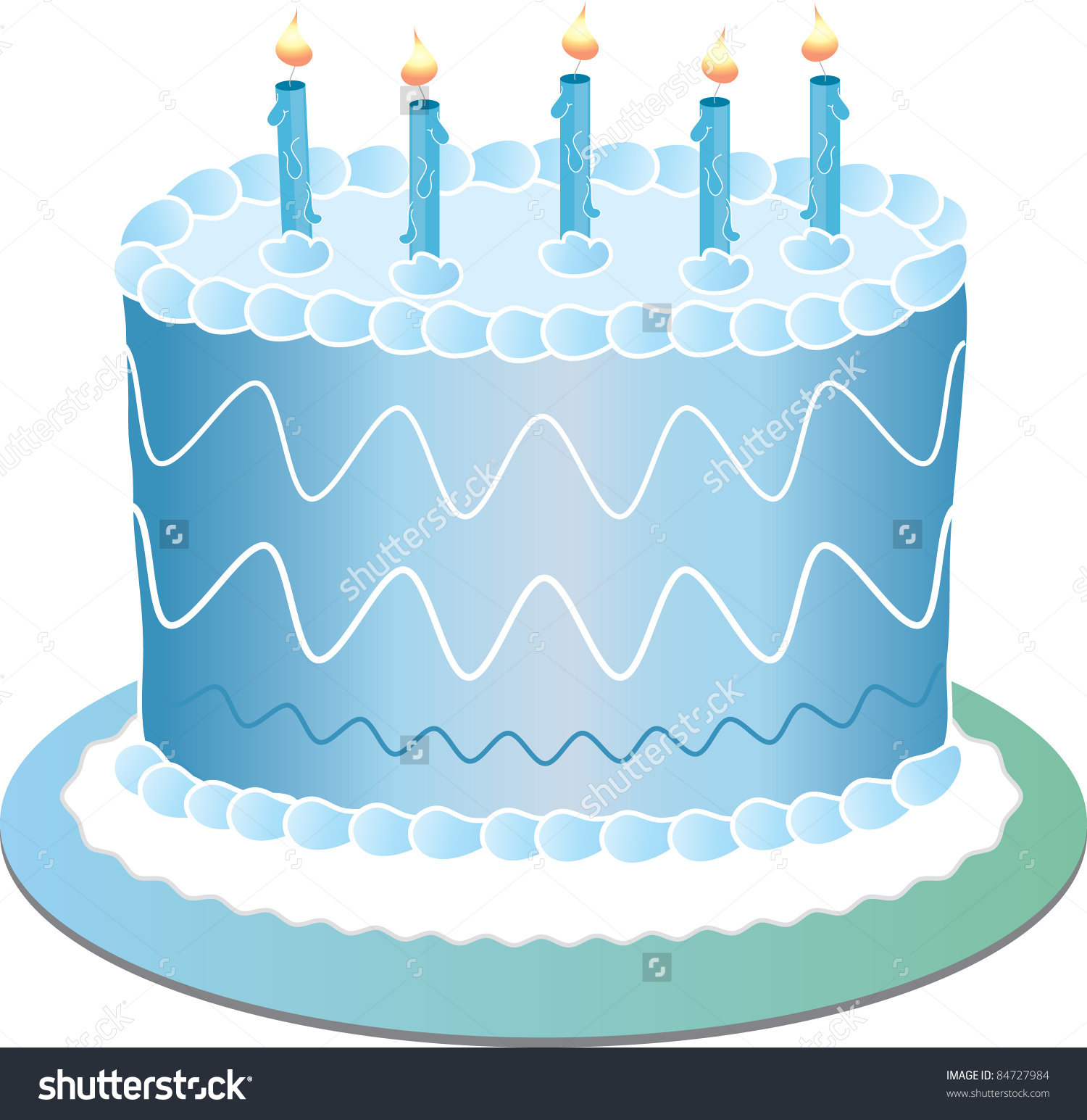 Blue birthday cake clip art image free Clip Art Illustration Blue Birthday Cake Stock Illustration ... image free