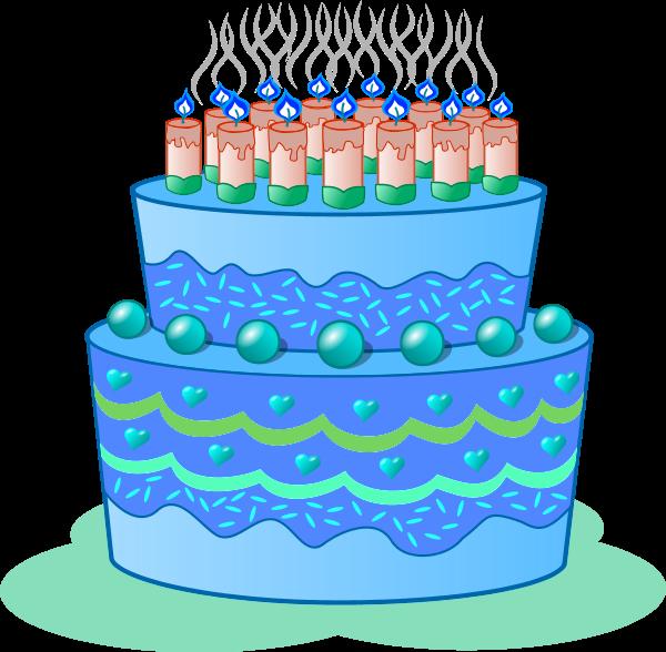 Blue birthday cake clip art banner library download Blue birthday cake clip art - ClipartFest banner library download