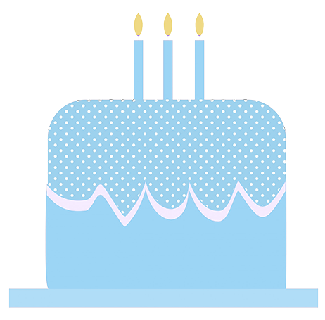 Blue birthday cake clipart picture royalty free library Birthday Clip Art and Free Birthday graphics picture royalty free library