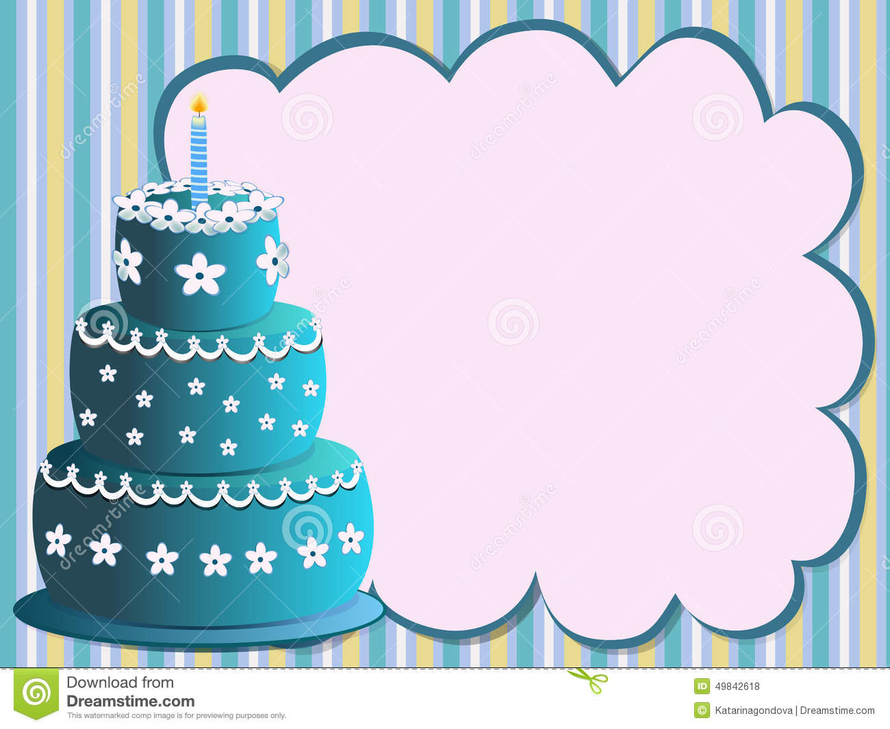 Blue birthday cake clipart clipart free stock Blue Birthday Cake Stock Vector - Image: 49842618 clipart free stock