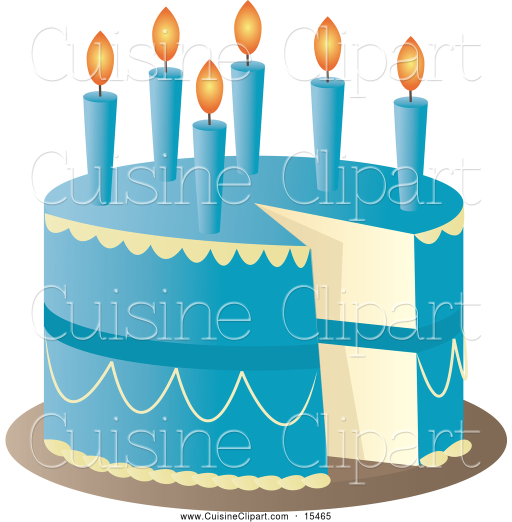 Blue birthday cake clipart image free Royalty Free Stock Cuisine Designs of Birthday Cakes image free