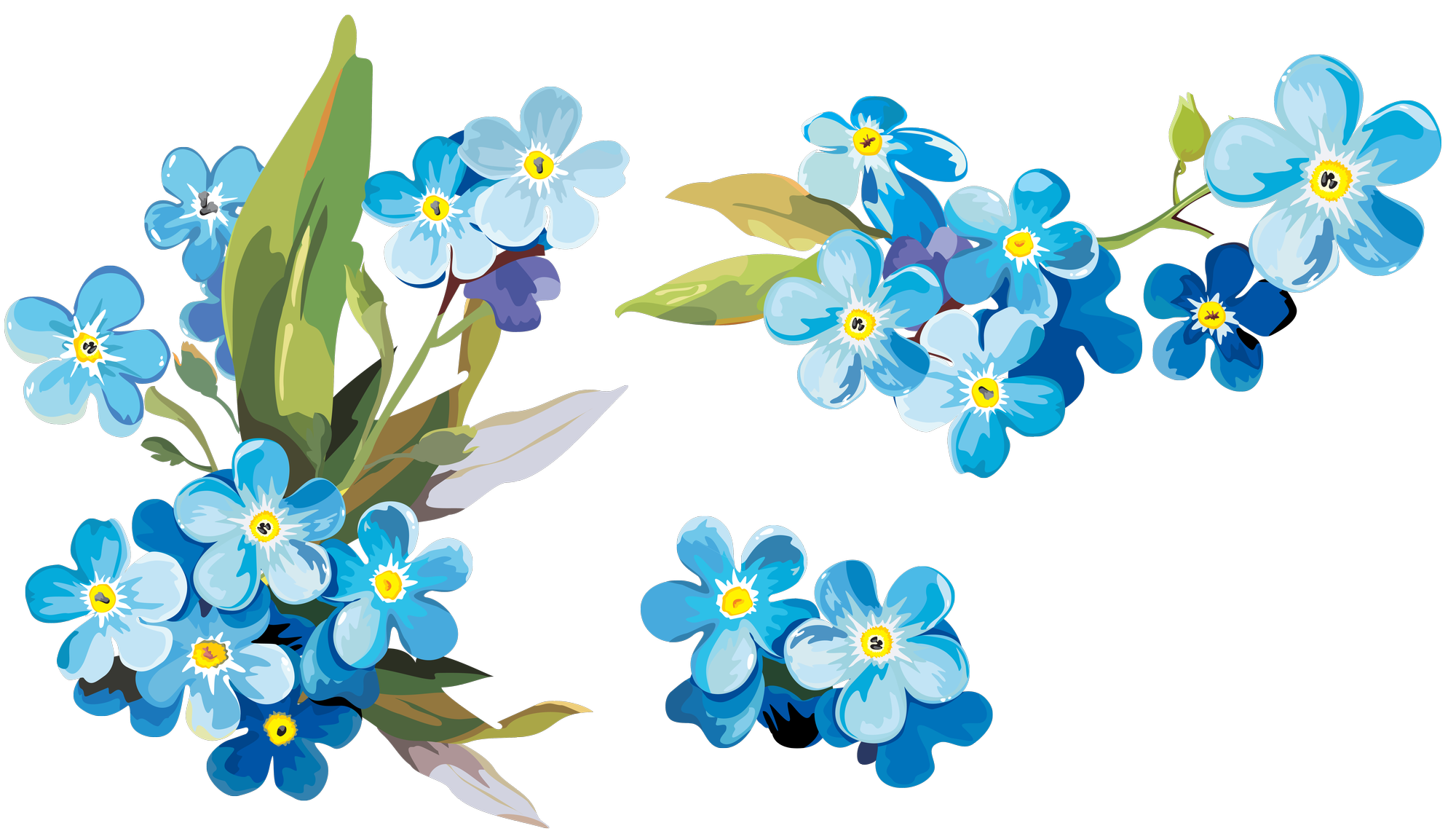 Watercolor painting Paper Clip art - Watercolor blue floral ... image freeuse download