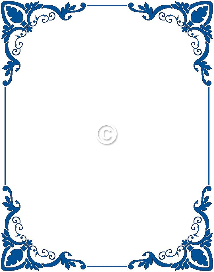Blue border clipart png free Free Border Clip Art | Clip Art | Pinterest | Clip art, Vintage ... png free