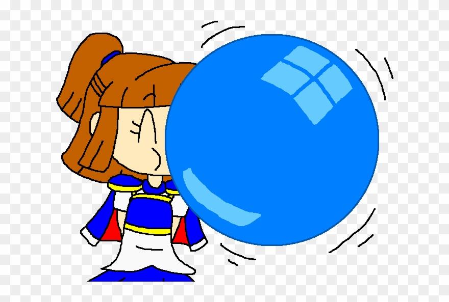 Blue bubble gum clipart clip art transparent library Arle And Her Blue Bubble Gum By Pokegirlrules Clipart (#2815315 ... clip art transparent library