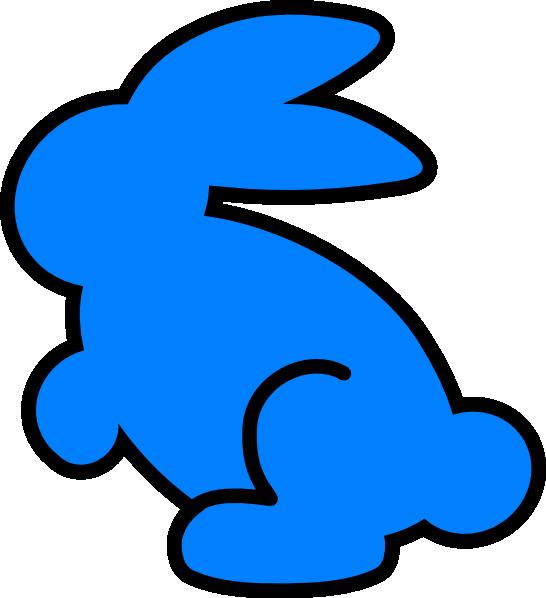 Blue bunny logo clipart picture royalty free Cyan Bunny Clip Art at Clker.com - vector clip art online, royalty ... picture royalty free