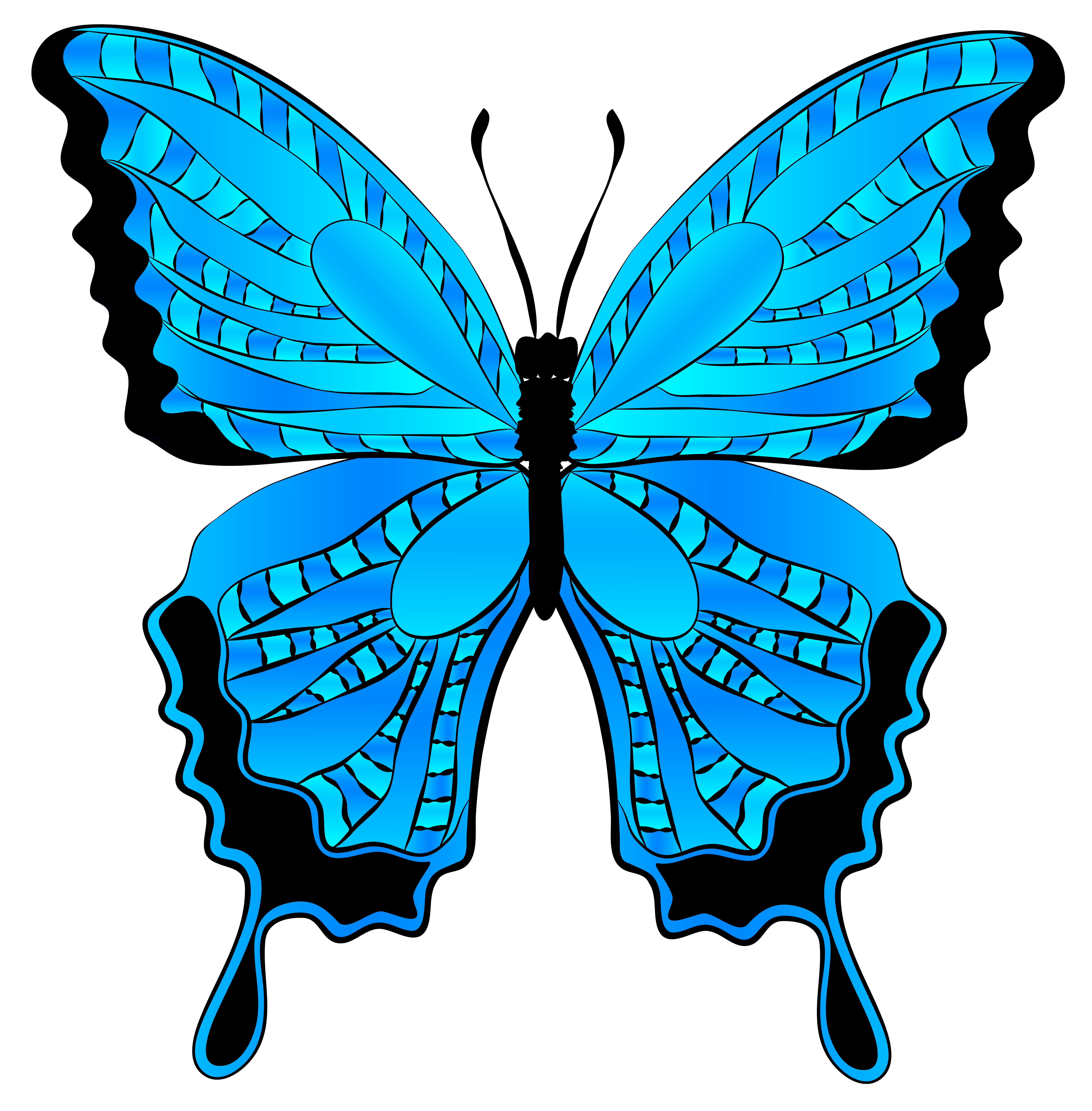 Clipart blue butterfly image free download Blue Butterfly Clipart Image | Gallery Yopriceville - High-Quality ... image free download