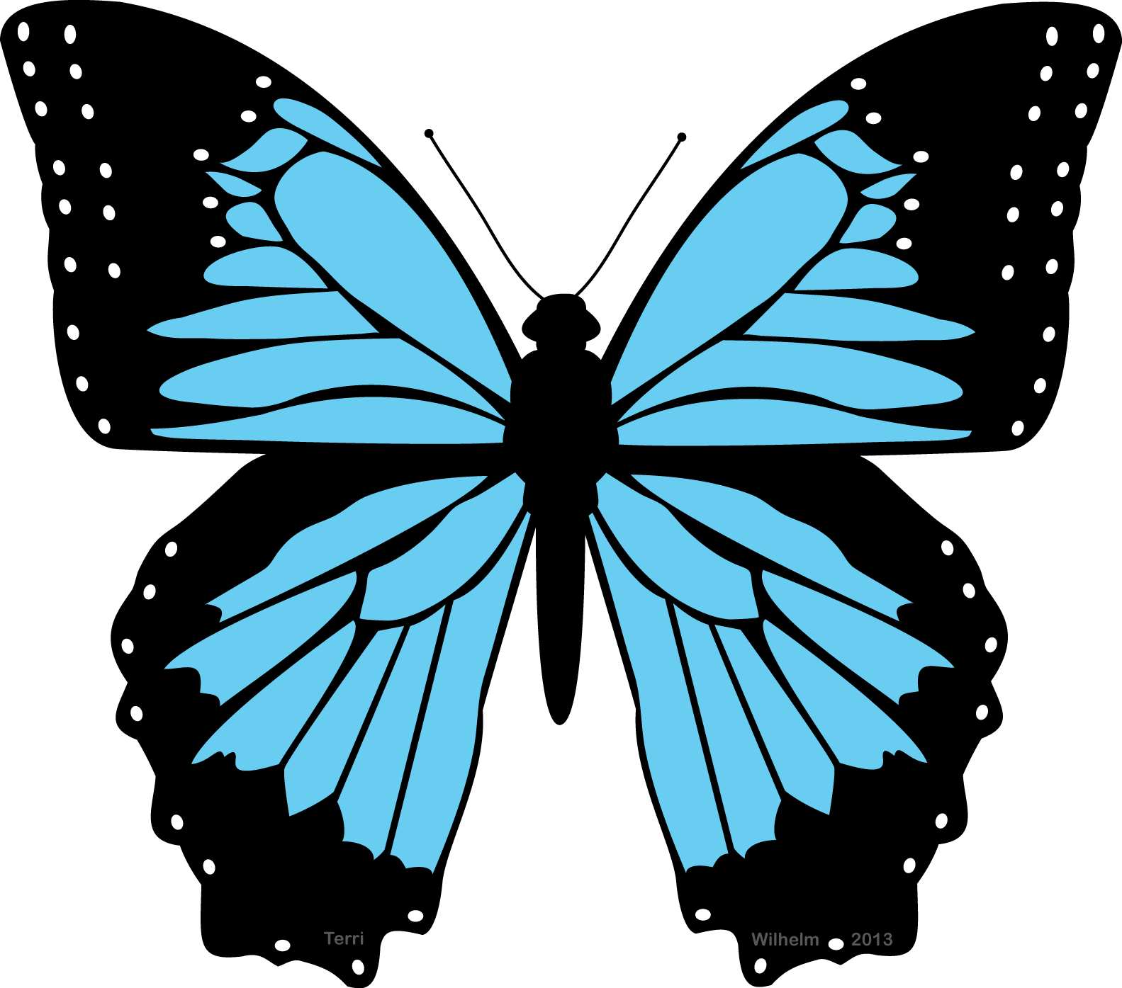Clipart blue butterfly graphic library library Black and blue butterfly clipart the cliparts – Gclipart.com graphic library library