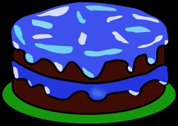 Birthday clip art free. Blue cake clipart