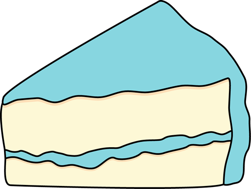 Blue cake clipart. Clip art images slice