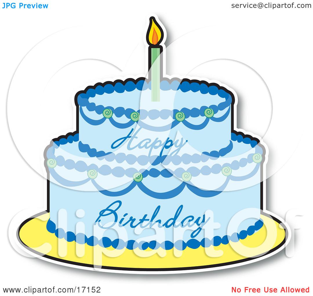 Blue cake clipart. Birthday clipartfest
