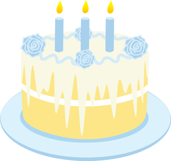 Blue cake clipart. Vanilla birthday clip art