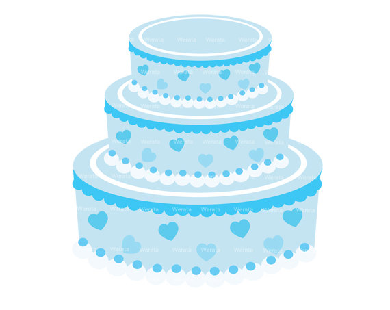 Blue cake clipart banner transparent Blue Cake Clipart - Clipart Kid banner transparent