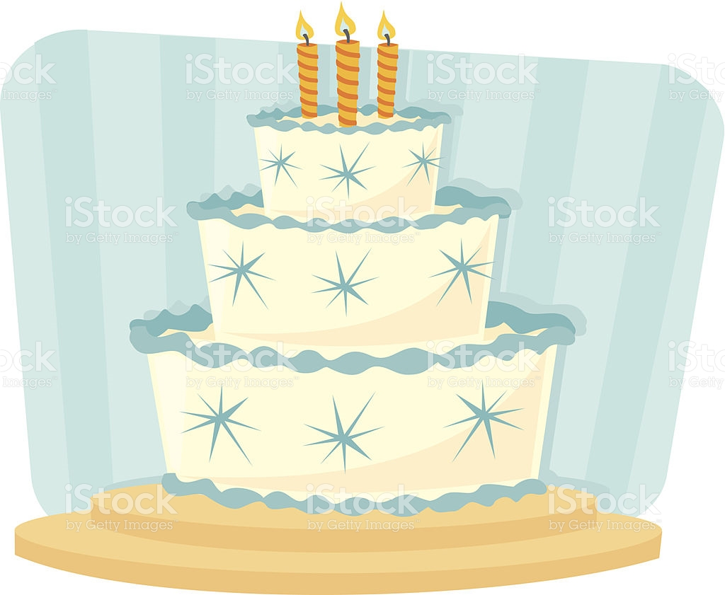 Blue cake clipart free library Blue Retro Birthday Cake Clip Art stock vector art 460817893 | iStock free library